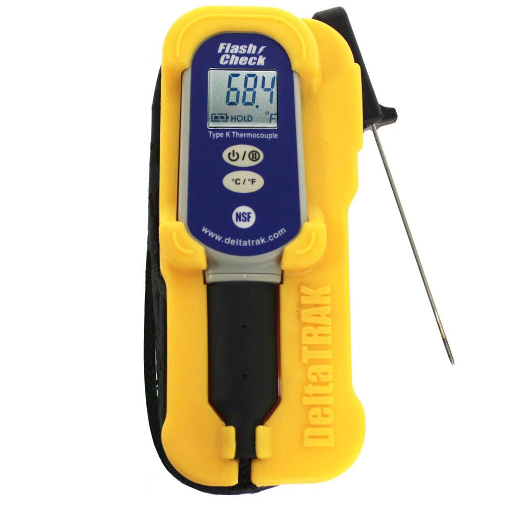 DeltaTrak 25052 FlashCheck Ruggy Thermocouple Thermometer Kit Needle Probe